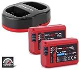 Baxxtar Pro Set - Ersatz für Akku Sony NP-FW50 (2X) mit Twin Port...