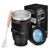 Kameraobjektiv-Kaffeetassen, Reisebecher Objektiv Tasse Edelstahl...