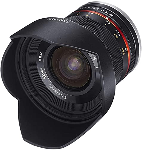 Samyang 12mm F2.0 Objektiv für Sony E – Weitwinkel Objektiv...