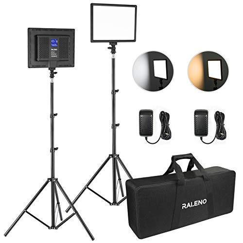LED Video Kamera Licht, RALENO 2 Pack 384 LED Sanftes...