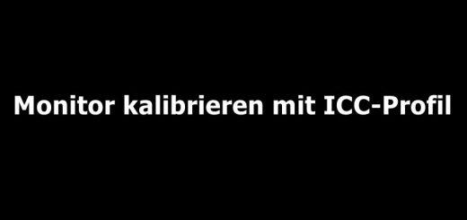 icc-profil kalibrierung