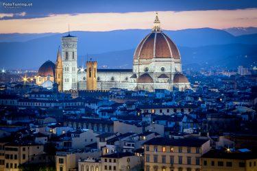 Florenz in der blauen Stunde
