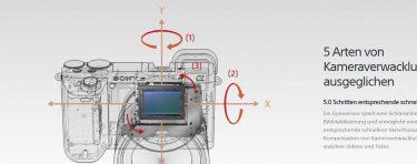 integrierter 5-Achsen Bildstabilisator