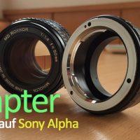 Adapter Minolta MD auf Sony Alpha