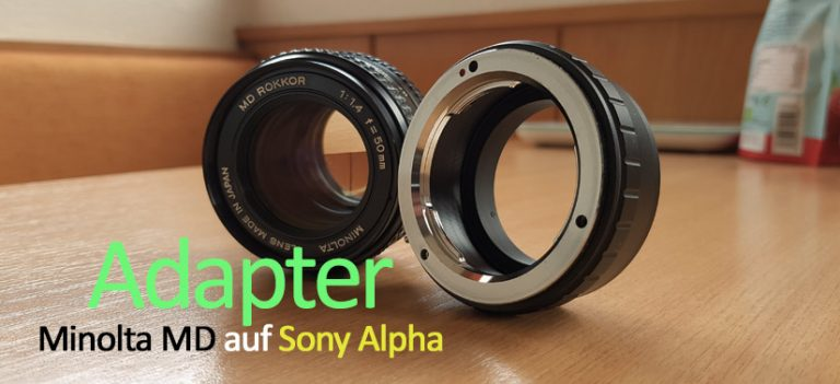 Adapter Minolta MD auf Sony Alpha