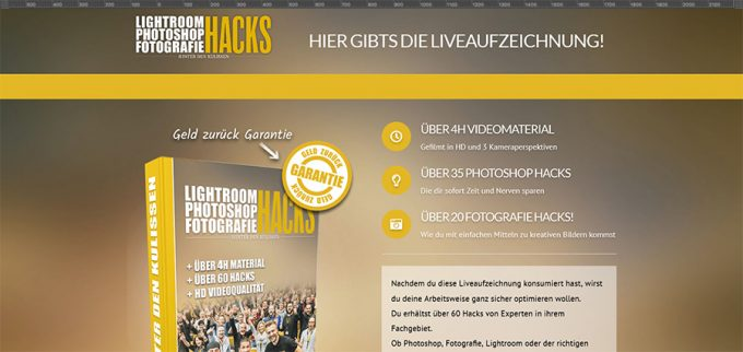 Lightroom Photoshop Fotografie HACKS