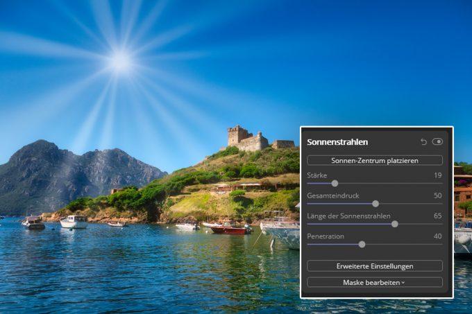 Sonnenstrahlen Filter