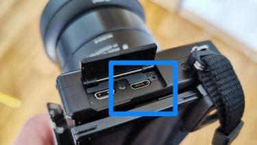 Micro HDMI Ausgang Sony Alpha 6300