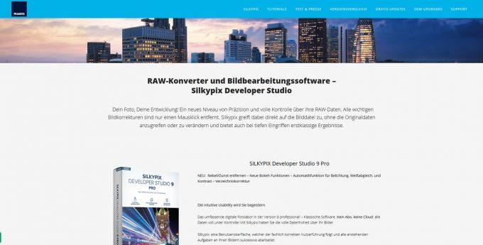 Silkypix Developer Studio - Software für RAW & Bildbearbeitung