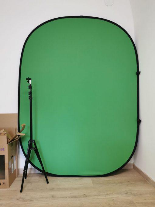Mein Greenscreen mit Stativ