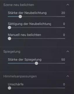 """Reiter """"Spiegelungen"""" in Luminar AI 1.2.0"""